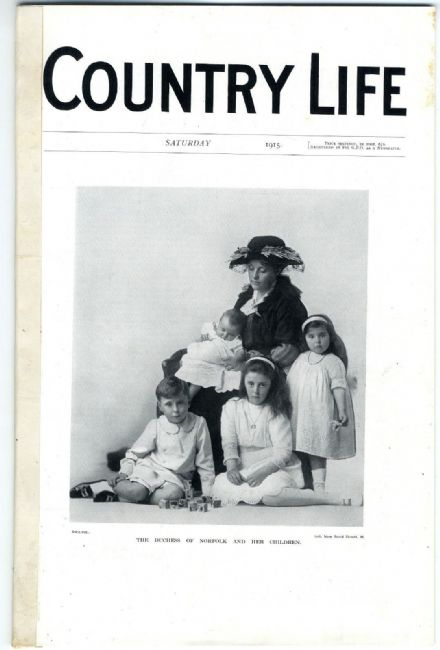 1915 COUNTRY LIFE MAGAZINE WW1 Gwendolen Fitzalan-Howard OTTERTON SCHOOL Meillant Cher (9690)